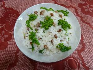 大豆と菜の花のご飯.JPG